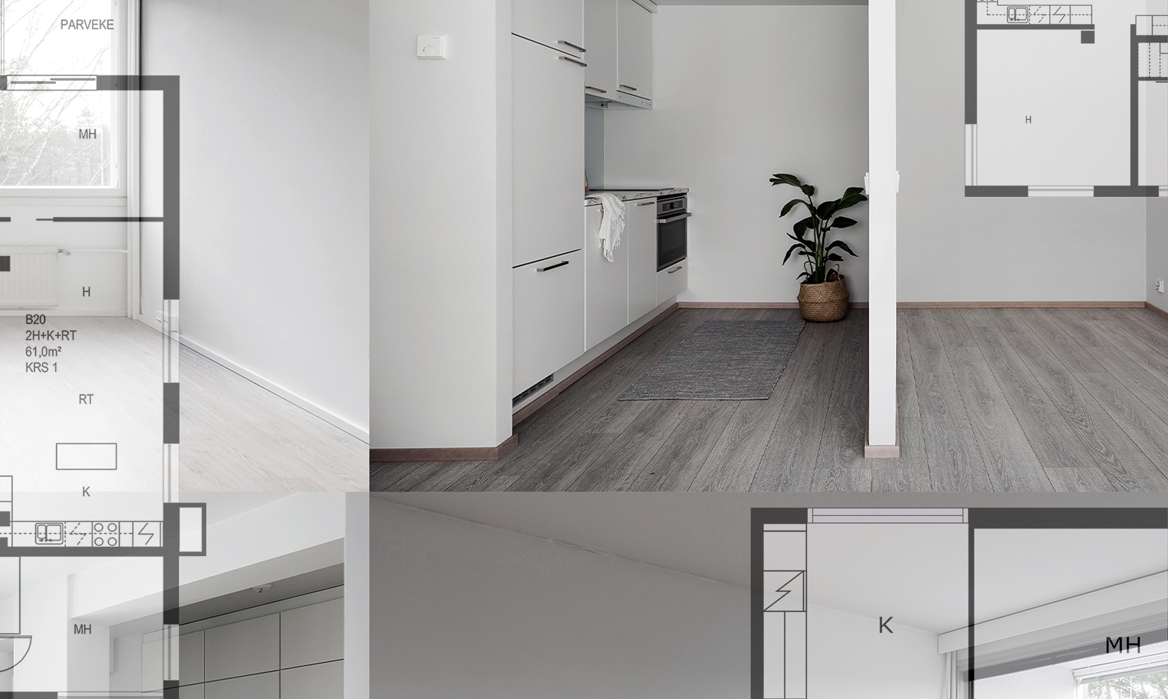 Mitä mieltä asunnon ostajat ovat pohjakuvista?